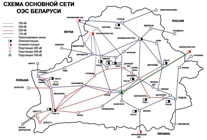 Республика Белоруссия с2016 года откажется от русской электрической энергии