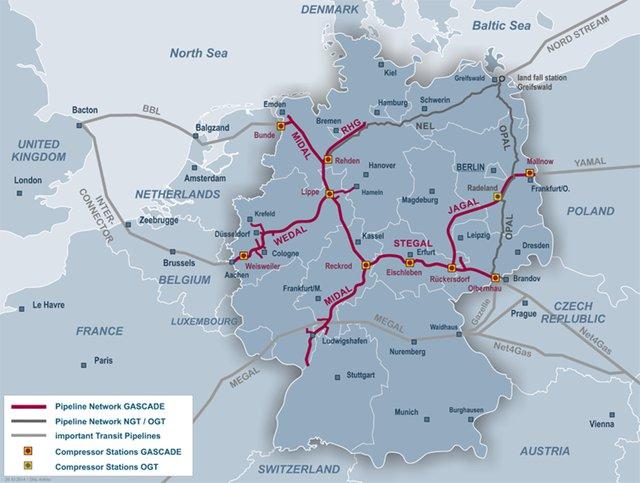 Регулятор Германии учел Северный поток-2 в плане развития газовой сети страны