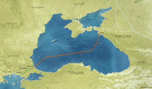 Газпром построил морской участок нового газопровода вобход государства Украины