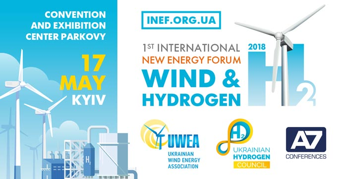 Ist International New Energy Forum: «Wind 038; Hydrogen» will be held in Kyiv
